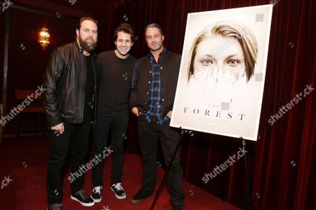 Exclusive - Director Jason Zada, David Dobrik and Taylor Kinney seen at Gramercy Pictures Special screening of 'The Forest', in West Hollywood, CA