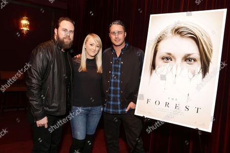 Exclusive - Director Jason Zada, Meghan McCarthy and Taylor Kinney seen at Gramercy Pictures Special screening of 'The Forest', in West Hollywood, CA