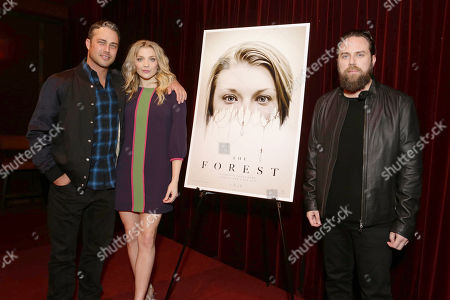 Exclusive - Taylor Kinney, Natalie Dormer and Director Jason Zada seen at Gramercy Pictures Special screening of 'The Forest', in West Hollywood, CA