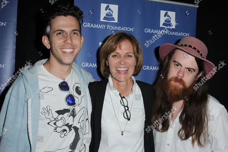 "Ryan Rabin, from left, Kristen Madsen, and Sean Gadd attends the ""GRAMMY Camp Guest Professional Day"", in Los Angeles"