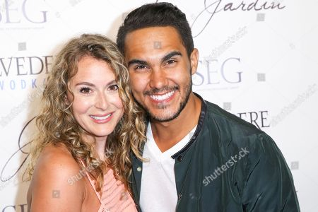 Alexa Vega, left, and Carlos Pena, Jr. arrive at the Grand Opening Of Le Jardin, in Los Angeles