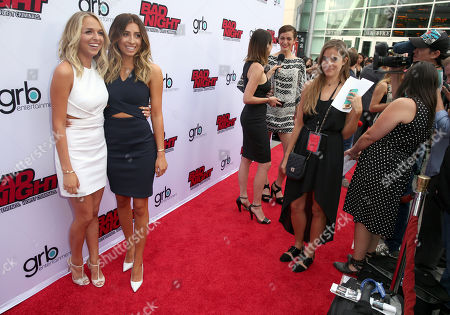 "Jenn McAllister, left, and Lauren Elizabeth Luthringshausen attend GRB Entertainment's ""Bad Night"" premiere, in Los Angeles"