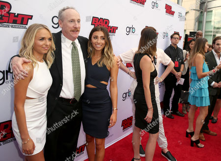 "Jenn McAllister, from left, Matt Walsh and Lauren Elizabeth Luthringshausen attend GRB Entertainment's ""Bad Night"" premiere, in Los Angeles"