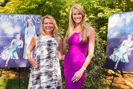 Beth Stern, left, and Debra Halpert attend Hamptons Magazine Memorial Day Soiree celebrating cover star Tracy Anderson, in Southampton
