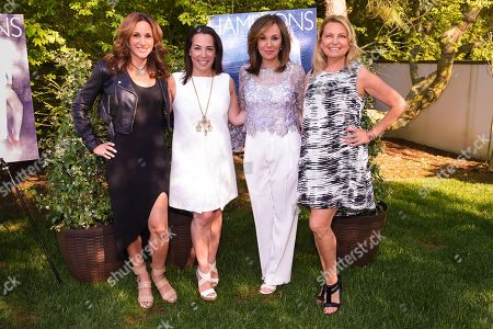 L-R) Elena Scotto, Samantha Yanks, Rosanna Scotto, and Debra Halpert attend Hamptons Magazine Memorial Day Soiree celebrating cover star Tracy Anderson, in Southampton