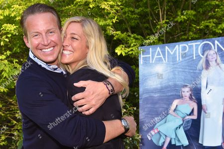 News anchor Chris Wragge, left, and Sarah Siciliano attend Hamptons Magazine Memorial Day Soiree celebrating cover star Tracy Anderson, in Southampton