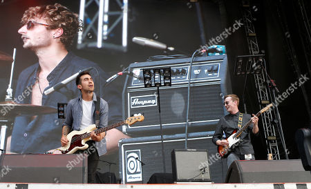Mike Delizo, left, bassist, left, and Ben Gittins, guitarist of The Carnabys perform on stage at the Hard Rock Rising Barcelona global music festival, at Platja del Forum in Barcelona, Spain. Hard Rock Rising Barcelona is Hard Rockâ?™s first global music festival activation in Spain