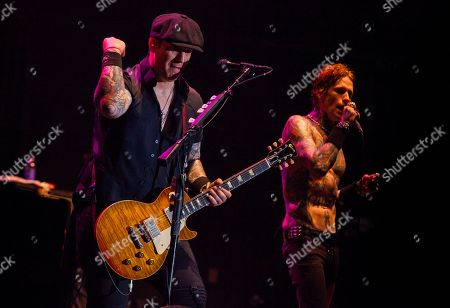 Keith Nelson and Josh Todd of Buckcherry perform at the Harley-Davidson 110th Anniversary celebration, on in Milwaukee, WI