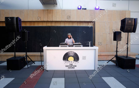 Stock Picture of Peanut Butter Wolf attends the Distortion of Sound documentary premiere presented by Harman at the Grammy Museum, in Los Angeles