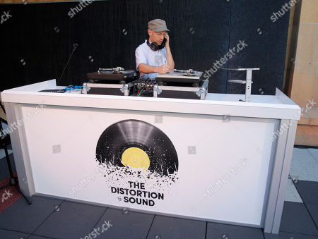 Stock Photo of Peanut Butter Wolf attends the Distortion of Sound documentary premiere presented by Harman at the Grammy Museum, in Los Angeles