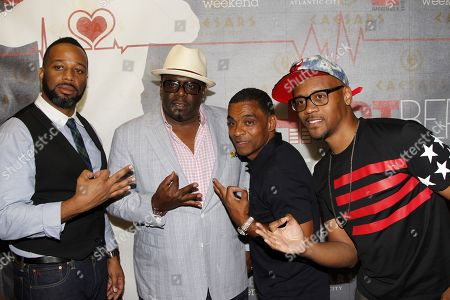 """L-R) Joe Clair, Cedric """"The Entertainer"""", Lealand """"Pookey"""" Wigington and Lavar Walker attend HartBeat Weekend Comedy All All-Stars Show Hosted by Kevin Hart on at Circus Maximus Theatre at Ceasars Hotel & Casino in Atlantic City, New Jersey"""