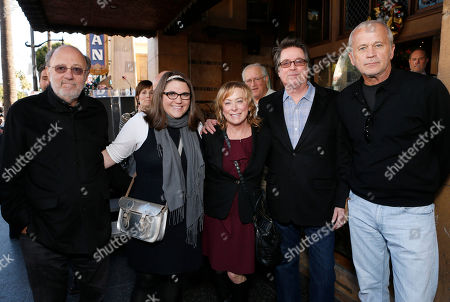 Producers Joe Medjuck, Ali Bell, Fox Searchlight President Nancy Utley, Alan Barnette and Tom Thayer attend Helen Mirren's Hollywood Walk of Fame Ceremony on in Hollywood, California