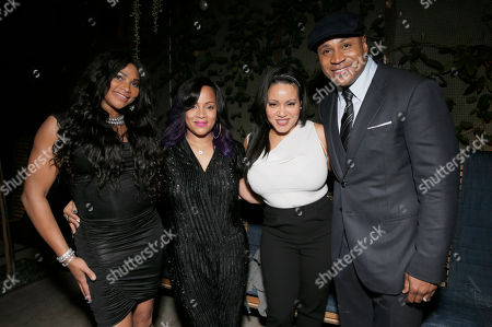Stock Picture of Sandy Denton, Simone Smith, Cheryl James and LL Cool J attend a private dinner hosted by Hennessy V.S.O.P Privilege and LL COOL J at Hinoki and the Bird in celebration of Music's Biggest Night on Saturday, February 7, in Los Angeles