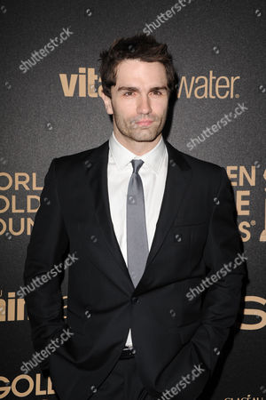 Sam Witwer attends HFPA and InStyle's Golden Globe award season celebration at Cecconi's, in West Hollywood