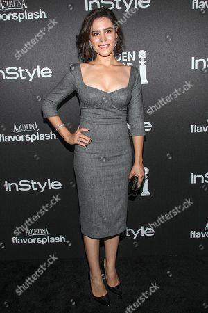 Actress Belcim Bilgin arrives at the Hollywood Foreign Press Association's celebration of the 2014 Golden Globe Award Season at the Fig & Olive on in West Hollywood, Calif