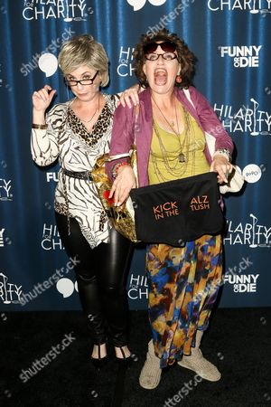 Stock Photo of Jessica Chaffin (as 'Ronna Glickman'), left, and Jamie Denbo (as 'Beverly Kahn') attend Hilarity for Charity's Annual Variety Show: James Franco's Bar Mitzvah held at The Hollywood Palladium, in Los Angeles