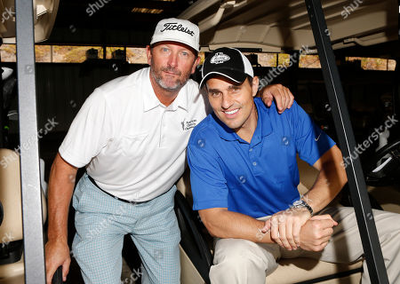 Bret Saberhagen and Bill Rancic attend the Hilton HHonors Charitable Golf Series Finale Event, on at the Riviera Country Club in Pacific Palisades, Calif