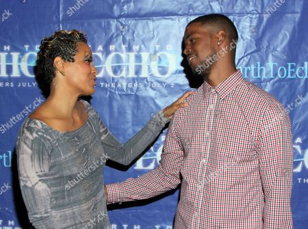 """Daphne Wayans and nephew Gregg Wayans seen at Holly Robinson Peete's Screening of Relativity's """"Earth To Echo"""" Benefiting the HollyRod Foundation at Pacific Theatres at the Grove, in Los Angeles, California"""