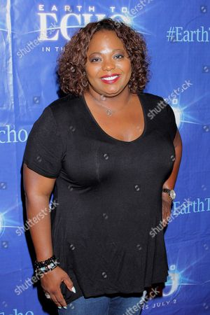"""Stock Photo of Cocoa Brown seen at Holly Robinson Peete's Screening of Relativity's """"Earth To Echo"""" Benefiting the HollyRod Foundation at Pacific Theatres at the Grove, in Los Angeles, California"""