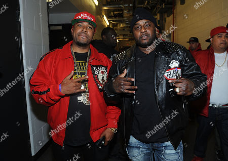 """Stock Photo of Capone-N-Noreaga poses for a photo backstage at the Hot 97's """"Busta Rhymes & Friends: Hot For The Holidays"""" at the Prudential Center on in Newark, N.J"""