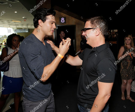 Ray Diaz and Co-Creator/Director Carlos Portugal attend Hulu's East Lost High Season 2 Premiere at Landmark Theater on Wednesday July, 9 2014, in Los Angeles