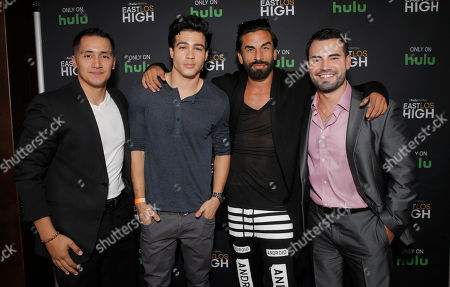 Rick Mancia, Ray Diaz, Robert Paul Taylor and Rene Alvarado attend Hulu's East Lost High Season 2 Premiere at Landmark Theater on Wednesday July, 9 2014, in Los Angeles