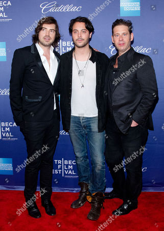 "Jack Huston, Derek Anderson, and Victor Kubicek attend the premiere of ""In God We Trust"" during the 2013 Tribeca Film Festival at the SVA Theatre on in New York"