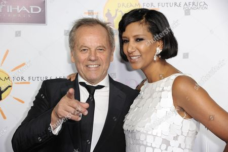 Stock Picture of Wolfgang Puck, left, and Gelila Puck arrive at the inaugural Dream for Future Africa Foundation Gala at Spago on in Beverly Hills, Calif