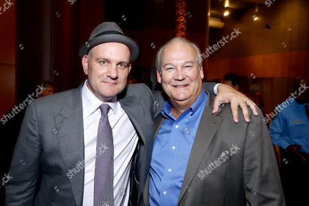 "Stock Picture of Mike O'Malley and Brett Rice seen at the Los Angeles Industry Screening of Warner Bros. Pictures and Village Roadshow Pictures ""Sully"" at The DGA Theater, in Los Angeles"
