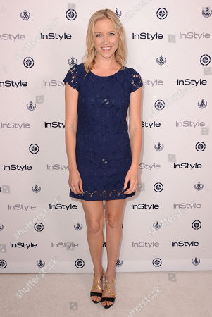 Jessy Schram arrives at the InStyle Summer Soiree at the Mondrian Hotel on in Los Angeles
