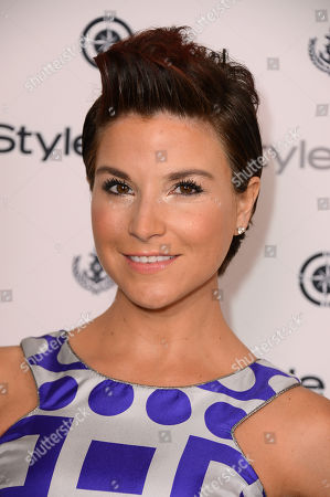 Diem Brown arrives at the InStyle Summer Soiree at the Mondrian Hotel on in Los Angeles