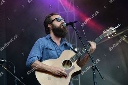 Samuel Beam with Iron & Wine performing at the Shaky Knees Music Festival, in Atlanta