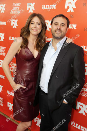 Series Creator and Executive Producer Jackie Marcus Schaffer and Husband, Series Creator/Executive Producer Jeff Schaffer seen at It's Always Sunny in Philadelphia and The League Premiere, on Tuesday, Sep, 3, 2013 in Los Angeles