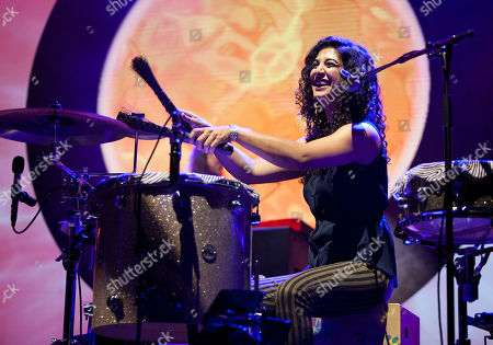 Stock Photo of Mona Tavakoli of all-girl band Raining Jane, performed in concert with Jason Mraz at the Fox Theatre on Tuesday, S, in Atlanta, Ga