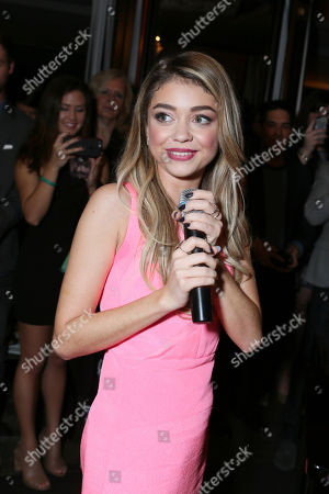 """Sarah Hyland performs at the Kindred Foundation's """"Family Has No Boundary"""" Benefit held at Riviera 31 at Sofitel Hotel, in Los Angeles"""