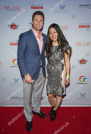 Stock Picture of Ryan Chiaverini and Ji Suk Yi seen here at Jenny McCarthy's 7th Annual Rescue Our Angels fundraiser for Generation Rescue at VenueOne on in Chicago