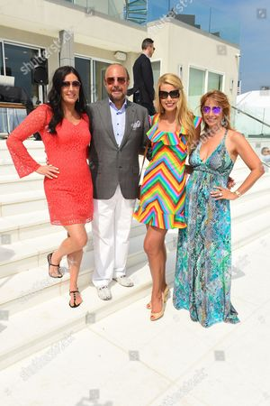 L-R) Patti Stanger, Bobby Zarin, Beth Stern, and Jill Zarin attend Jill Zarin's 3rd Annual Private Luxury Benefit Luncheon in Southampton, in New York