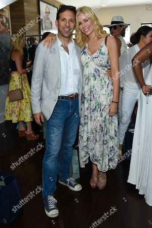 Aviva Drescher, right, and Reid Drescher attend Jill Zarin's 3rd Annual Private Luxury Benefit Luncheon in Southampton, in New York