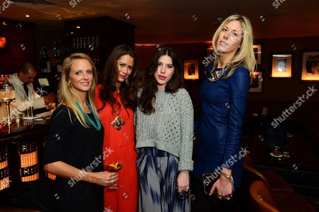 L-R) Amy Perkins and Alexandra Bowes Lyon, Lily Lewis and Ophelia Hohler seen at Johnnie Walker Blue Label Dinner at China Tang, The Dorchester on Wednesday, May, 15, 3013 in London