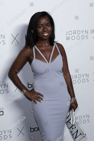 Camille Winbush arrives at the Jordyn Woods x boohoo.com Launch Event at the Neuehouse Hollywood, in Los Angeles