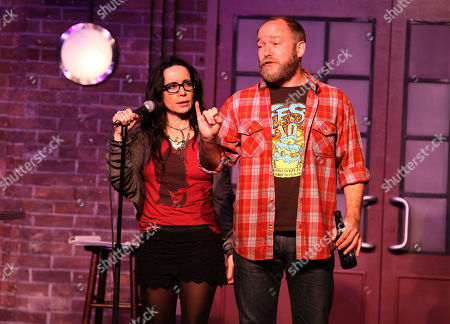 """Janeane Garofalo and Kyle Kinane perform at the """"Just For Laughs Comedy Festival"""" on at the UP Comedy Club in Chicago"""