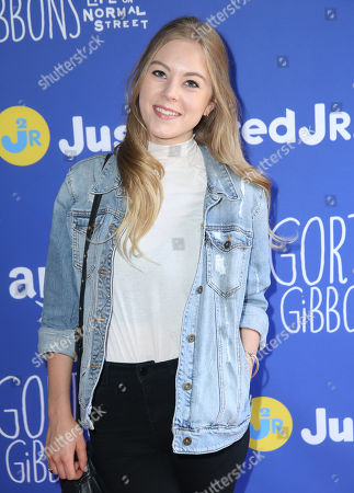 "Stock Photo of Lauren North attends Just Jared Jr.'s Fall Fun Day celebrating Season 2 of Amazon Prime's ""Gortimer Gibbon's Life on Normal Street"", in Los Angeles"
