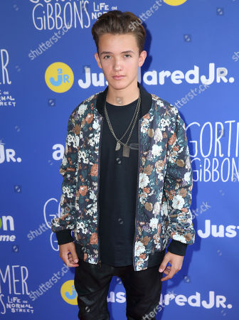 """Stock Picture of Noah Urrea attends Just Jared Jr.'s Fall Fun Day celebrating Season 2 of Amazon Prime's """"Gortimer Gibbon's Life on Normal Street"""", in Los Angeles"""