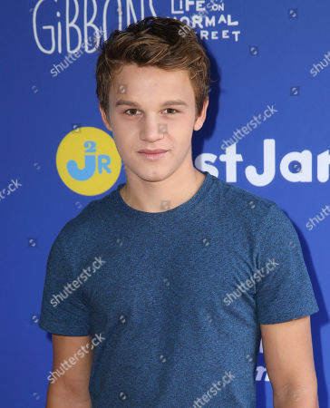 "Gavin MacIntosh attends Just Jared Jr.'s Fall Fun Day celebrating Season 2 of Amazon Prime's ""Gortimer Gibbon's Life on Normal Street"", in Los Angeles"