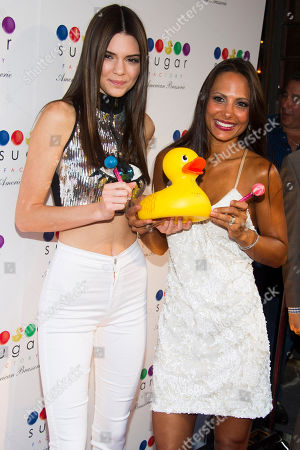 Editorial picture of Kendall Jenner at Sugar Factory Opening, New York, USA - 20 Jun 2013