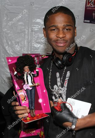 R&B singer Marcus Canty visits the Soul Train Awards 2012 Gifting Suite to pick up an original Kenya Doll. The beloved doll which has a rich, cultural significance with African American children, is re-launching this holiday season. Captured, at Planet Hollywood in Las Vegas, Nevada. Soul Train Awards 2012 airs Nov. 25th on Centric TV/BET Networks
