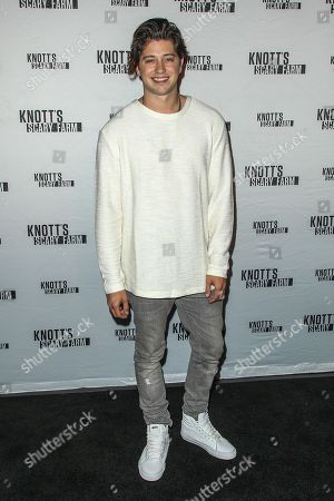 Chris Galya attends the Knott's Scary Farm Black Carpet event on in Buena Park, Calif