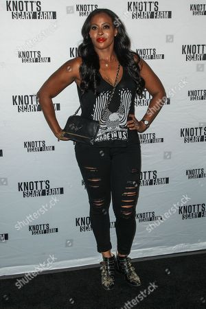 Nichelle Hines attends the Knott's Scary Farm Black Carpet event on in Buena Park, Calif