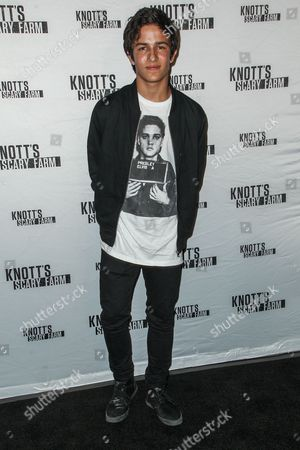 Aramis Knight attends the Knott's Scary Farm Black Carpet event on in Buena Park, Calif