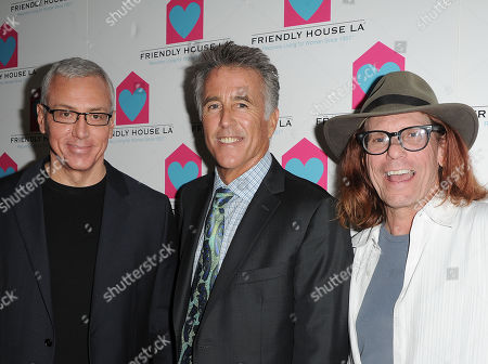 Stock Picture of Dr. Drew Pinsky,from left, Christopher Kennedy Lawford, and Bob Forrest are seen at the LA Friendly House Luncheon on in Beverly Hills, Calif